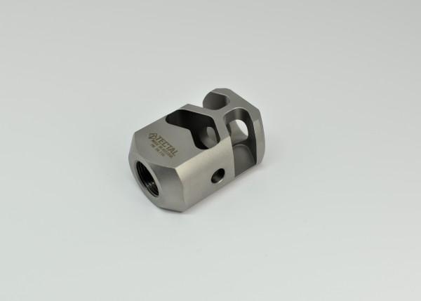 """Mündungsbremse PCC Kaliber 9x19 (9x21) -- Mündungsgewinde 1/2"""" - 28 (AR-15 und andere)"""